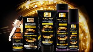 Золотой шелк. косметика для волос